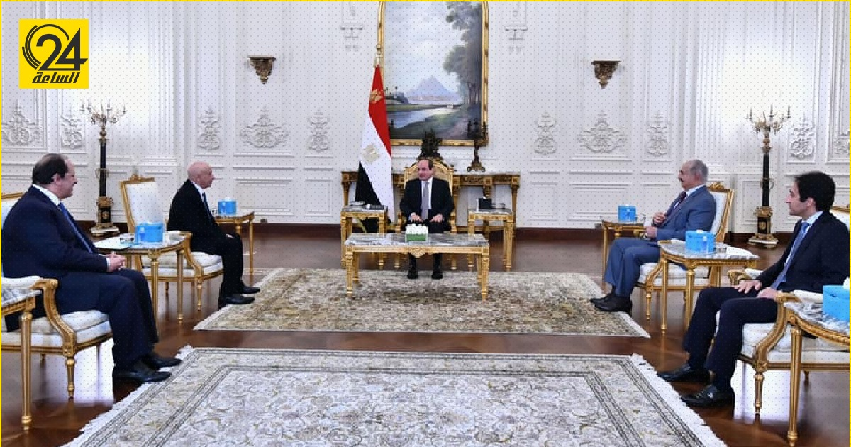 الرئاسة المصرية: السيسي يشيد بحرص حفتر وعقيلة صالح على تماسك الدولة الليبية