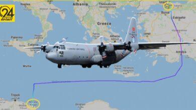 «فلايت رادار»: طائرتان تركيتان للشحن تقتربان من قاعدة مصراتة الجوية