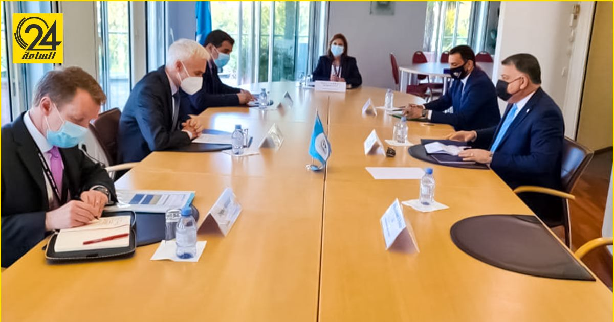 خالد مازن والأمين العام للإنتربول يبحثان ملفات الإرهاب والهجرة غير الشرعية ومكافحة الفساد