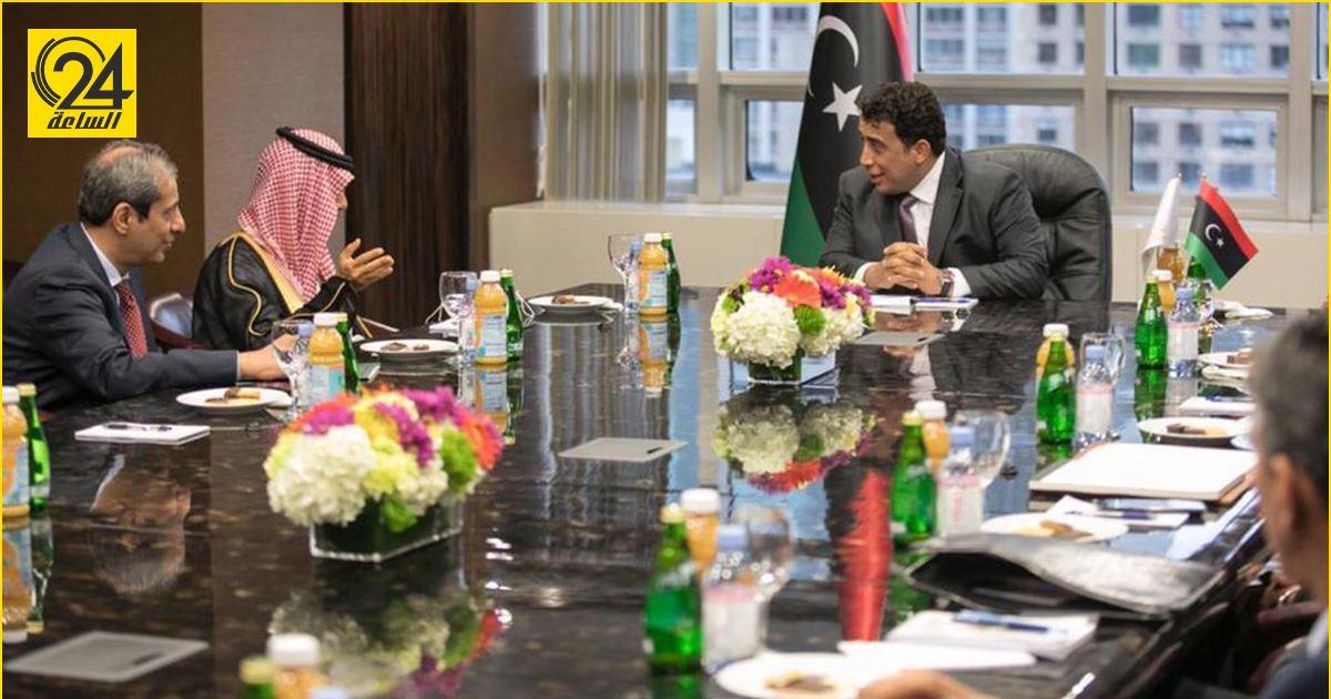 المنفي لـ«وزير خارجية السعودية»: موقف بلادكم مشرف في دعم الاستقرار في ليبيا