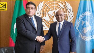 خلال لقائه برئيس الجمعية العامة للأمم المتحدة .. «المنفي» يبحث إعداد خطة دولية للتعافي من جائحة كورونا