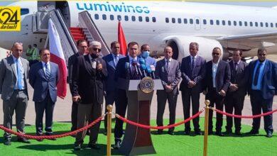 بعد توقف لأكثر من عامين.. «الحويج» و«الشهوبي» يشاركان في تدشين أول الرحلات بين ليبيا ومالطا