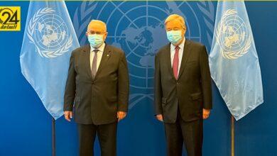 """وزير خارجية الجزائر يعرض على""""غوتيريش"""" جهود بلاده في حل أزمات ليبيا"""