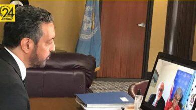السني: ناقشت تحديات الانتخابات مع المندوبة الأمريكية بالأمم المتحدة