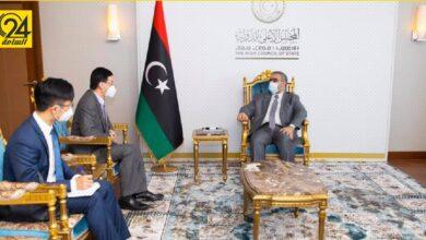 المشري يبحث مع السفير الصيني عودة سفارة بلاده إلى ليبيا