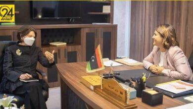 المنقوش تبحث مع مساعد الأمين العام للأمم المتحدة مسارات مبادرة استقرار ليبيا