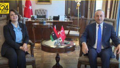 المنقوش توجه دعوة لوزير الخارجية التركي للمشاركة في مؤتمر «استقرار ليبيا»