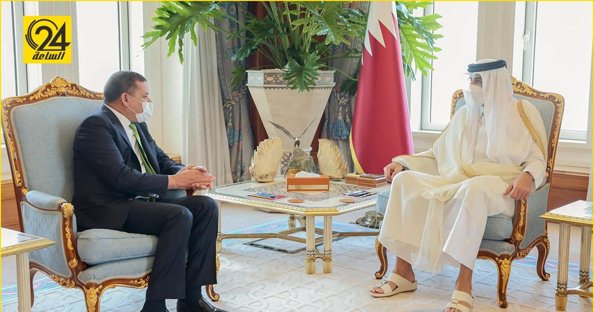 «تميم» لـ «الدبيبة»: الدور القطري سيكون إيجابياً في الملف الليبي