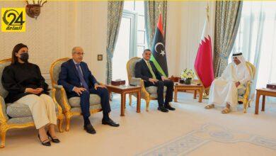 بحضور الصديق الكبير.. الدبيبة يناقش مع رئيس الوزراء القطري «التعاون في مجال الكهرباء»