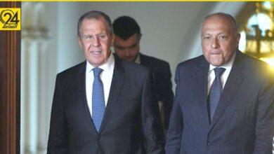 """شكرى لـ""""لافروف"""": مصر ستستمر في توفير الرعاية والدعم لليبيا حتى تحافظ على سيادتها"""