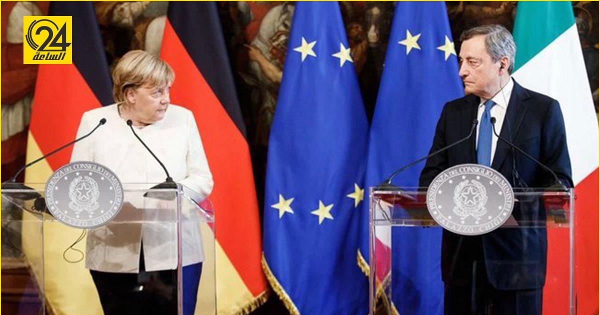 ميركل: ألمانيا ملتزمة بحل الأزمة الليبية بالتعاون مع إيطاليا