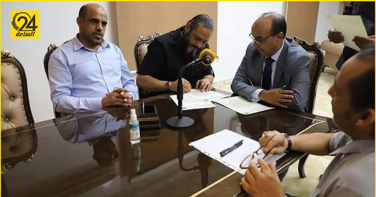 وزارة الرياضة تستلم مقرها بمنطقة الحدائق بنغازي من الإدارة العامة للبحث الجنائي