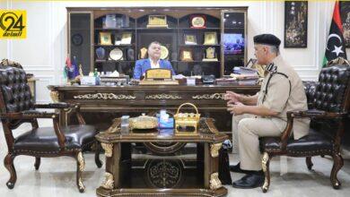 وزير الداخلية يبحث مع مدير أمن سرت مشكلات المديرية وآليات حلولها