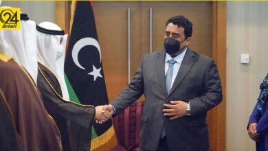 """المنفي يستقبل وزير خارجية الكويت قبيل انطلاق مؤتمر مبادرة """"استقرار ليبيا"""""""