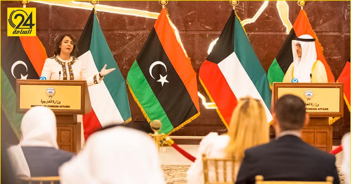 المنقوش توجه الدعوة لنظيرها الكويتي لحضور مؤتمر استقرار ليبيا