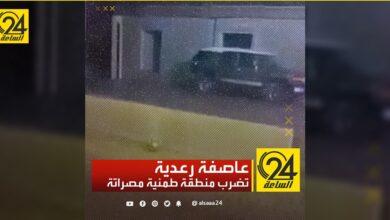 عاصفة رعدية تضرب منطقة طمنية مصراتة