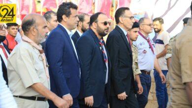 وزير الاقتصاد يشارك بحفل انطلاق اللقاء الوطني لجوالة ليبيا وشباب الجامعات