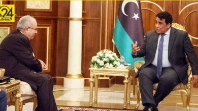 المنفي يناقش مع وزير خارجية الجزائر سبل إنجاح مبادرة استقرار ليبيا