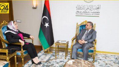 «المشري» لـ«طرمال»: دعم المرأة الليبية يجب أن يكون مشروطًا بعدم مخالفة الشريعة