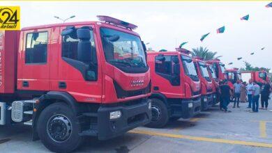«السلامة الوطنية»: وصول 14 شاحنة إطفاء للهيئة دعما من منظمة «كومنكس»