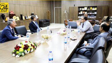 «الحبري» يناقش مع القنصل الإيطالي تطورات الأوضاع الاقتصادية والمصرفية في ليبيا