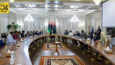 «الدبيبة» يلتقي أعيان قبيلة أولاد سليمان لمناقشة مشروع المصالحة الوطنية